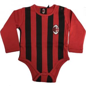 Body Neonato Milan Manica Lunga Rosso Nero Ufficiale ACMILAN PS 28205 Pelusciamo Store Marchirolo