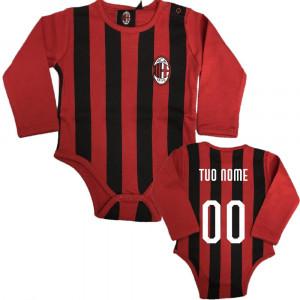 Body Neonato Milan Manica Lunga AC Milan Personalizzato PS 28205-Personalizzata  Pelusciamo Store Marchirolo