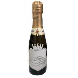 Bottiglia Di Prosecco Extra Dry 0.20 ML. Patch Bianca Strasse Anelli PS 12046 Pelusciamo Store Marchirolo