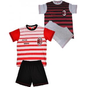 Pigiama Milan Ragazzo Maglia e Pantaloncini Abbigliamento Calcio PS 10285 pelusciamo store