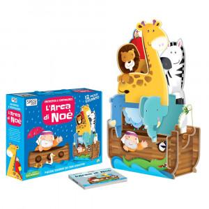 L'Arca Di Noe' Incastra e costruisci Libro puzzle PS 07106 Libri Educativi PELUSCIAMO STORE