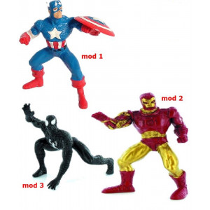 Action Figure Marvel , Venom, Iroman, Capitan America *20653
