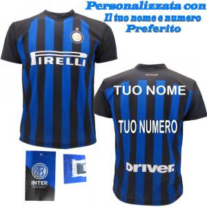 Maglia Inter Personalizzata Maglietta F.C. Internazionale Replica 2018 / 2019 PS 27411 Pelusciamo Store Marchirolo