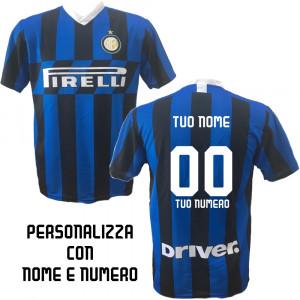3d311a99b8eea6 Maglia Inter Personalizzata Maglietta F.C. Internazionale Replica 2019/20  PS 31429