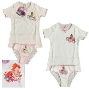 Completo intimo bambina Winx, T-shirt + Slip Bimba | pelusciamo.com