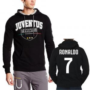 Felpa Juve Con Cappuccio Abbigliamento Ufficiale Juventus PS 23487 Ronaldo7 Pelusciamo Store Marchirolo