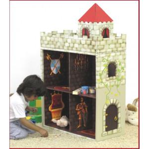 Castello portaoggetti libreria in cartone pressato reciclabile Kroom *03497