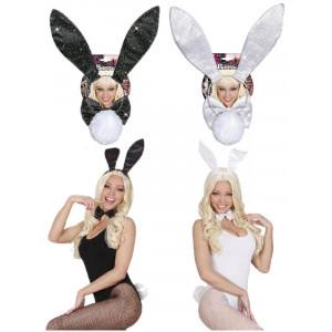Set Coniglietta Glitter - Orecchie, Coda e Papillon accessori Costume carnevale | pelusciamo.com