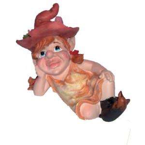 Statuetta in poliresina Le priscilline portafortuna Elfo Desy *03670 pelusciamo