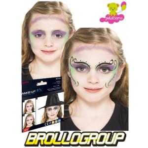 Truccabimbi Make Up Carnevale Halloween kit colori viso strega accessori| pelusciamo.com