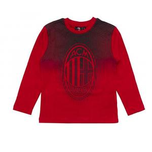 T-Shirt Bambino Milan Maniche Lunghe Abbigliamento Ufficiale