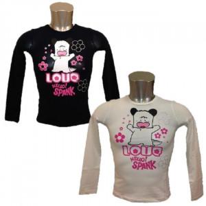 Maglia bimba Hello Spank Love Maglietta maniche Lunghe Bambina | pelusciamo.com
