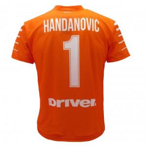 806f1966e94c89 Maglia Calcio Bambino Inter Handanovic 2017/2018 Replica Ufficiale PS 08025