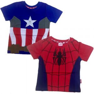 Maglietta Marvel Avengers Spiderman Capitan America PS 06362 pelusciamo store