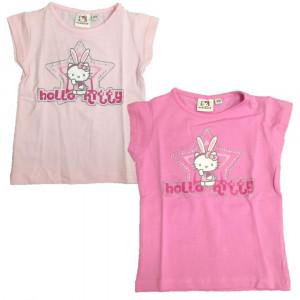 T-Shirt Bimba Hello Kitty con Strasse Maglietta maniche corte Bambina  | pelusciamo.com