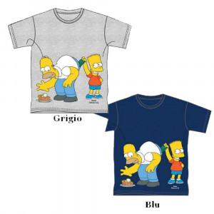 T-shirt Bimbo Simpson Bart & Homer Maglietta Bambino   pelusciamo.com