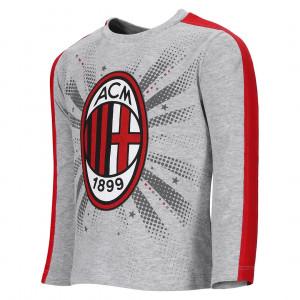 T-Shirt Milan Logo Neonato Maglietta Grigia  Bambino Primi Mesi | Pelusciamo.com