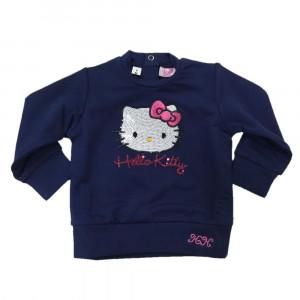 Felpa Neonata Hello Kitty Blu con Paillettes Felpina Bimba   pelusciamo.com