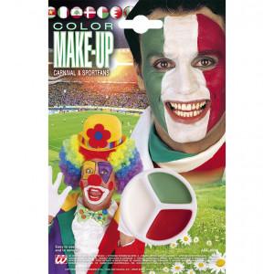 Make Up Tricolore Italia, Rosso Bianco Verde, Trucca bimbi Ultras Tifosi   | pelusciamo.com