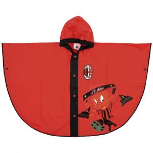 Mantella pioggia A.C. Milan mantellina tifosi milanisti 04504 pelusciamo