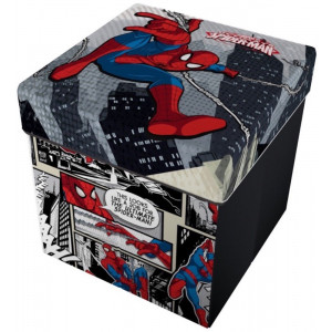 Marvel Spiderman Pouf Contenitore Con Cuscino PS 08864 Pelusciamo Store Marchirolo