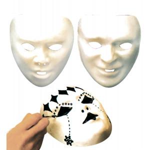 Maschera  Bianca da Dipingere , Accessorio Carnevale     Pelusciamo Store