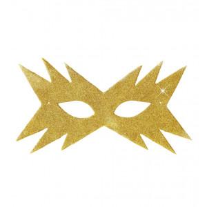 Mascherina Oro Domino Stella  Accessorio Carnevale  | pelusciamo store