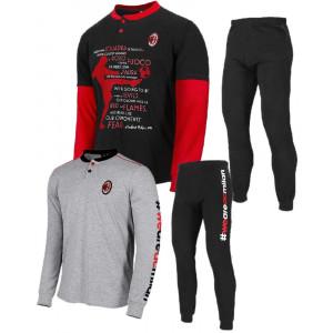 Pigiama Lungo Ragazzo Abbigliamento Ufficiale AC Milan PS 26872 Pigiami Calcio Pelusciamo Store Marchirolo