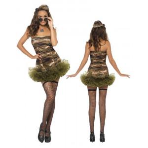 Abito A tutu donna, divisa mimetica militare | Effettoparty.com