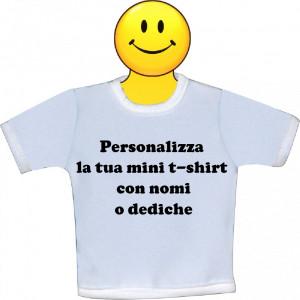 Mini T-Shirt Bianca Personalizzabile Per Auto 18x18 cm | Pelusciamo.com