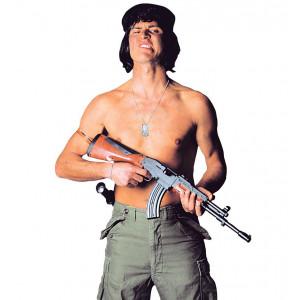 Arma Mitra Kalashnikov, accessorio costume carnevale Rambo   pelusciamo store
