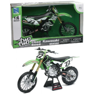 Modellini motocross usa Kawasaki KX450F TwoTwo 04741 pilota Chad Reed Pelusciamo Store Marchirolo