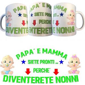 Tazza Papa' e Mamma Siete Pronti Diventerete Nonni Tazze In Ceramica PS 09370-10