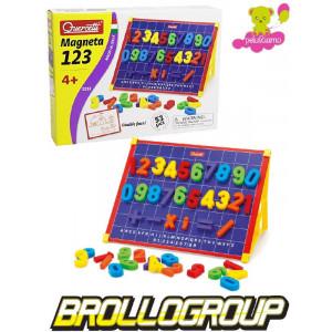 Quercetti giochi intelligenti lavagna magnetica numeri 53 pz *12615 giocattoli per bambini pelusciamo.com