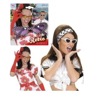 Occhiali retro accessori costume carnevale Rock'n'Roll, Twist, Pink Lady *19711 pelusciamo store