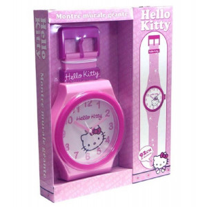 Orologio da parete grande Hello Kitty 92 cm. sanrio license *00227 pelusciamo store