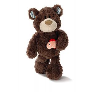 Peluche Nici Orso 25 cm con Salmone *00852 Plush Teddy Bear Plusch tragen | pelusciamo.com