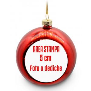 Palla di Natale Personalizzabile Addobbi Natalizi PS 10784 Gadget Personalizzato Pelusciamo Store Marchirolo