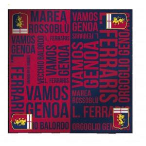 Panno asciugatutto 36x36 cm. ufficiale Genoa C.F.C  *20590 pelusciamo store