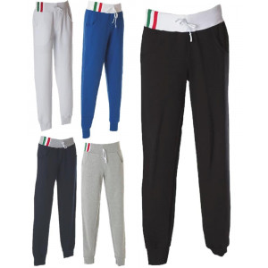Pantalone Tuta Italia in Felpa Made in Italy 100% Cotone  PS 28378