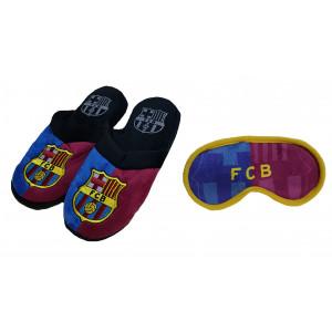 Abbigliamento ufficiale Barcellona, pantofole e mascherina notte R15094 | Pelusciamo.com