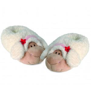 Pantofole In Peluche Calde Moppine Nici Pecora Jolly Sue PS 00916 Pelusciamo Store Marchirolo