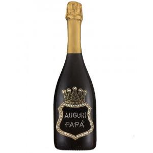 Bottiglia Di Prosecco Extra Dry 0.75 ML. Personalizzata Auguri Papa' PS 27263