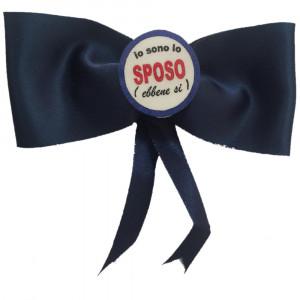 Coccarda con Spilla Io Sono Lo Sposo PS 03534 Gadget Addio Celibato