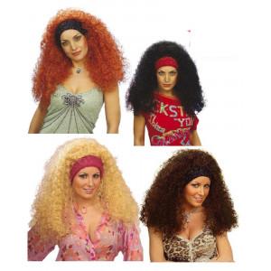 Parrucca riccia Ramona accessori per travestimento costume carnevale