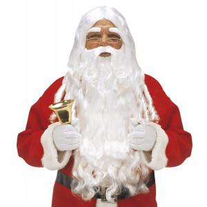 Accessorio Costume Babbo Natale Adulto, Set Barba Lusso | pelusciamo.com