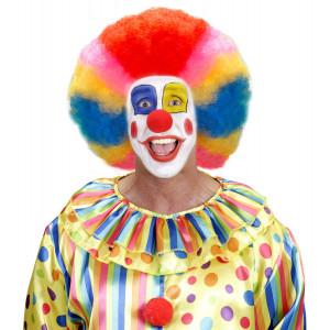 Accessorio Costume Carnevale Adulto, Parrucca Clown Multicolor Extra | Pelusciamo store