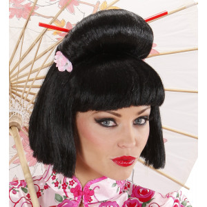 Parrucca Geisha , Accessorio Carnevale Donna | Pelsuciamo.com