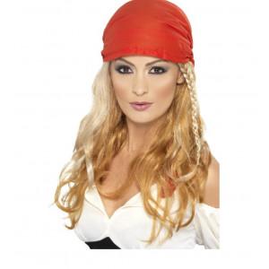 Parrucca Da Pirata Ladies Pirate Wig + Bandana Braids Caribbean PS 03260 pelusciamo store