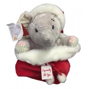 Peluche natalizi Elliot and buttons nella sacca natale 25 cm *07286